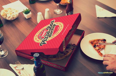 Finger-licking Good Pizza Mockup