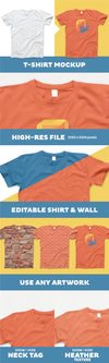 T-Shirt PSD Mockup with Realistic Effects
