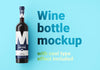 Ultra-Clean Wine Bottle Mockup Front or Top View