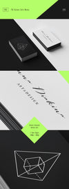 Black and White Set of Business Cards PSD Mockup