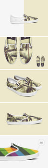 Clean White Slip-on Shoes Mockup Set