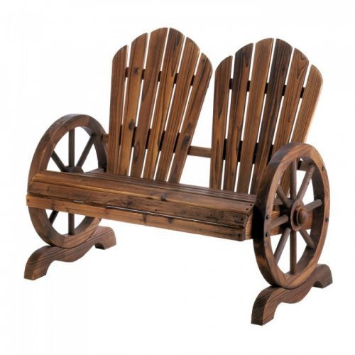 Wagon Wheel Couple Chair