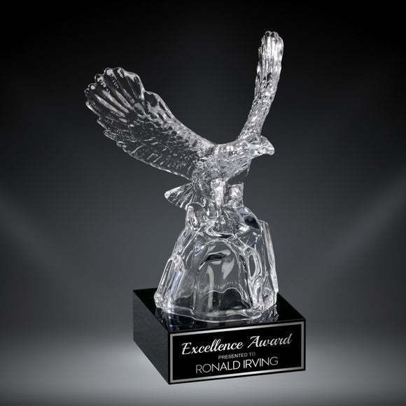 GreyStone Crystal Eagle on Black Crystal Base | 3 SIZES