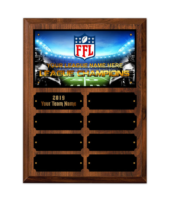 Fantasy Football League Cherry Finish League Champions Perpetual Plaques