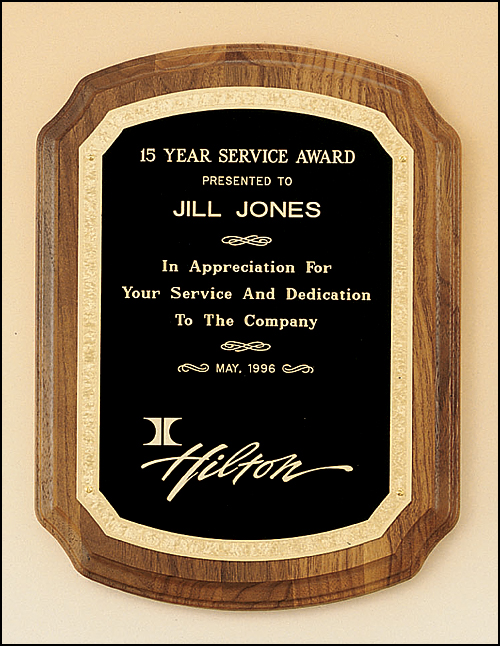 Airflyte Solid American walnut Coventry Series plaque with Black plate | 3 SIZES
