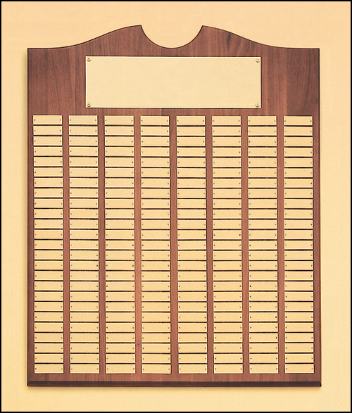Airflyte Solid American Walnut 12 to 270 Gold Brass Plate Perpetual Plaques | 15 SIZES