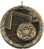 "2"" XR Series soccer Award Medals on 7/8"" Neck Ribbons"