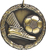 "2"" XR Series soccer action Award Medals on 7/8"" Neck Ribbons"