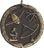 "2"" XR Series science Award Medals on 7/8"" Neck Ribbons"