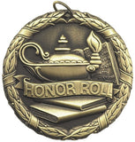 "2"" XR Series honor roll Award Medals on 7/8"" Neck Ribbons"