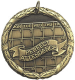 "2"" XR Series Attendance Award Medals on 7/8"" Neck Ribbons"