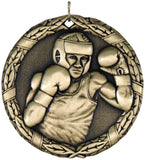 "2"" XR Series boxing Award Medals on 7/8"" Neck Ribbons"