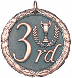 "2"" XR Series 3rd Place Award Medals on 7/8"" Neck Ribbons"