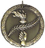 "2"" XR Series victory torch Award Medals on 7/8"" Neck Ribbons"