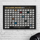 Bo No Frame 100 Classic Movies Scratch-Off Poster