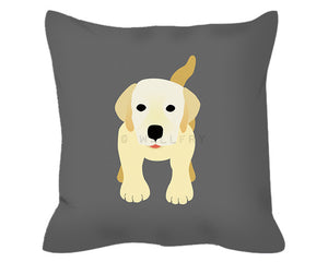 Labrador throw pillow cushion. Nursery decor, children's play area, perfect for dog lovers. Professionally printed with zipper