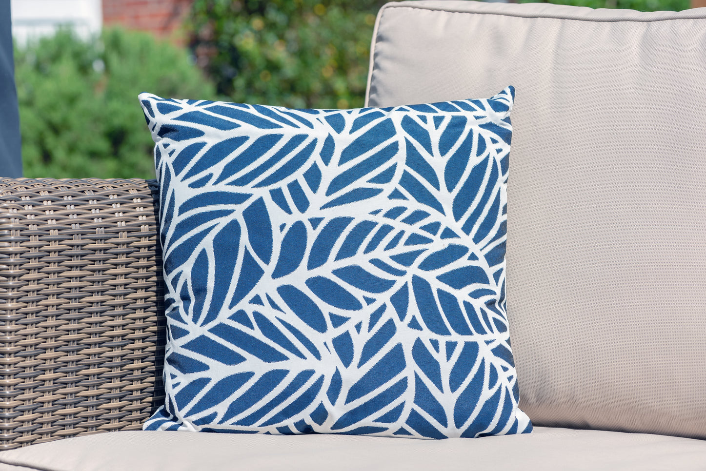 Luxury Cushion in Palm Navy Bean Bag Cushion armadillosun