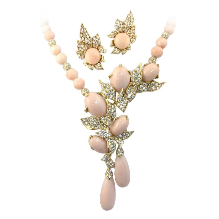Gerard Angel Skin Coral Diamond gold Set