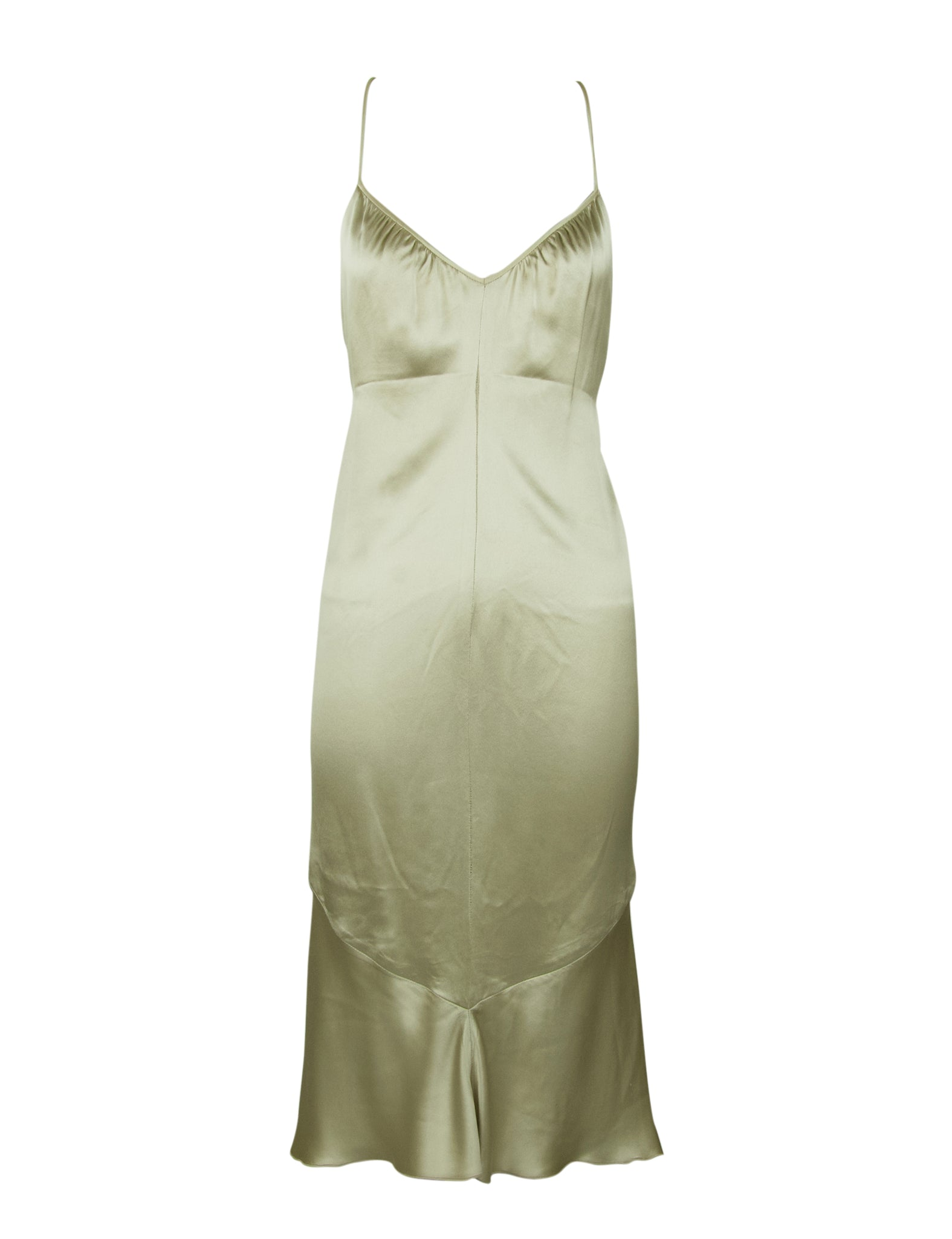 Vintage Valentino Champagne Slip Dress with Beading