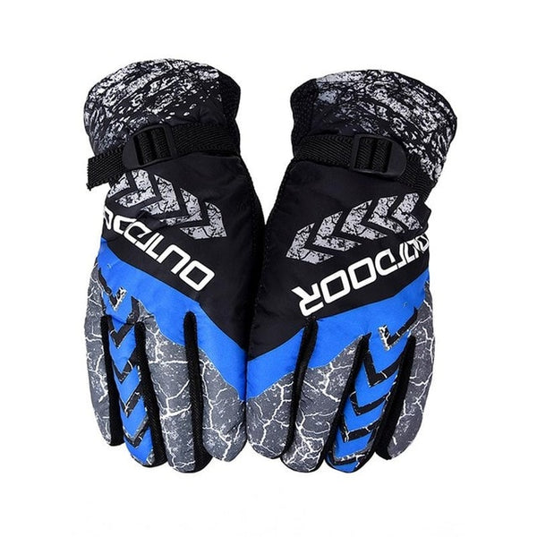 Men Women Waterproof Heated Winter Warm Skiing Gloves Windproof Thickening Outdoor Sports Riding Motorcycle Snowboard Ski Gloves