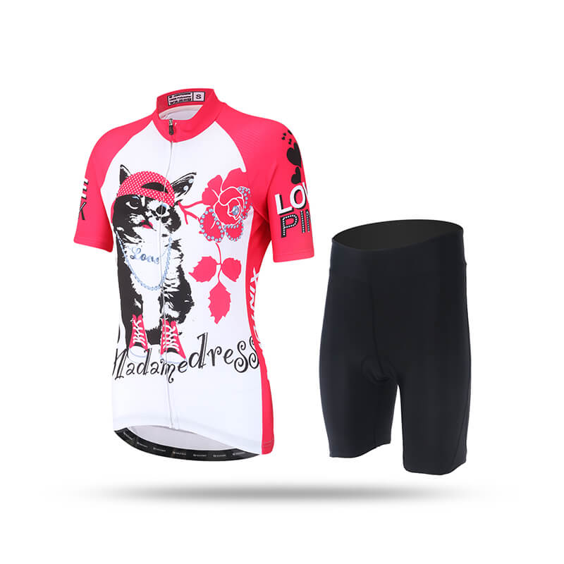 Women's Short Sleeve Cycling Kit - Persian Cat