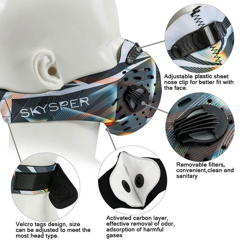 Neoprene Half Face Mask | Cycling Mask with Replaceable Filter