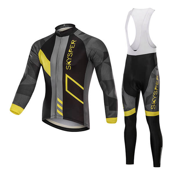 Men's Long Sleeve Kit - Yellow Reflective Strip - SKYSPER