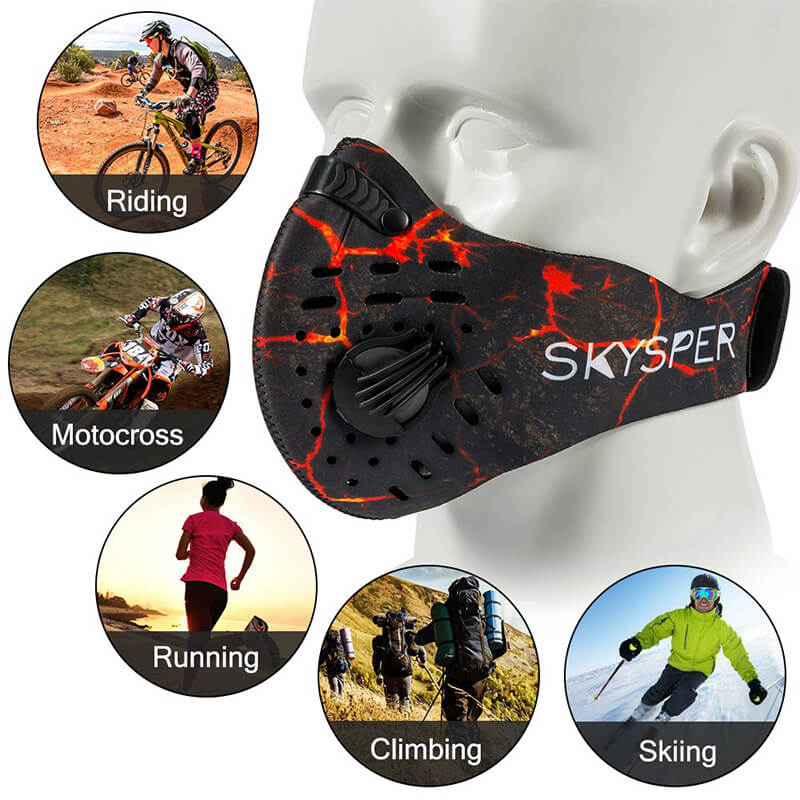 Ultralight Air Pollution Mask | PM2 5 Mask | N95 Face Mask With Replaceable Filter