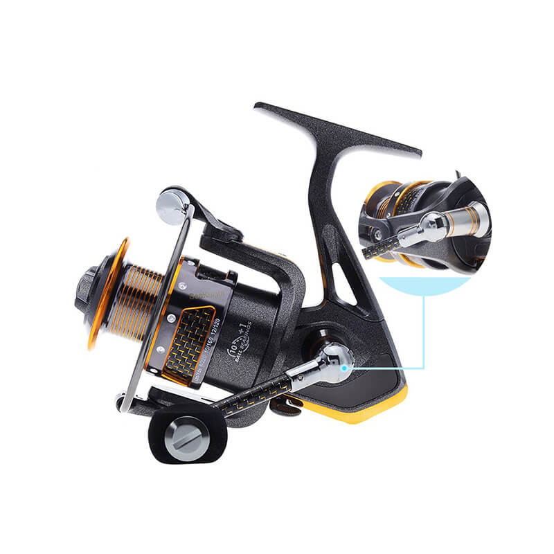 10+1BB Left/Right Interchangeable Collapsible Handle Fishing Spinning Reel + Plastic Spare Spool - SKYSPER