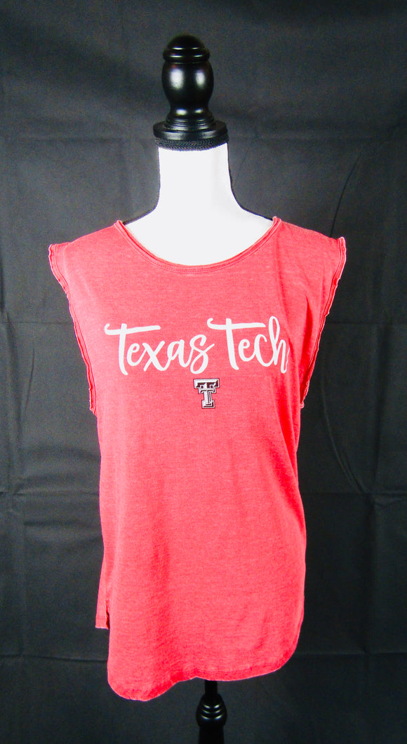 Texas Tech Red Vintage Wash Tank Top