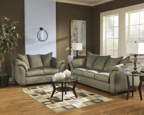 Shop Ashley Furniture Darcy Sage Sofa and Loveseat at Mealey's Furniture