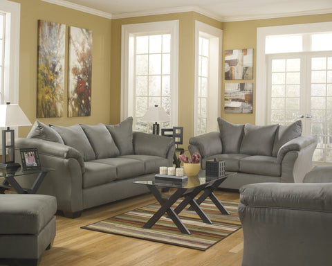 Shop Ashley Furniture Darcy Cobblestone Sofa and Loveseat at Mealey's Furniture