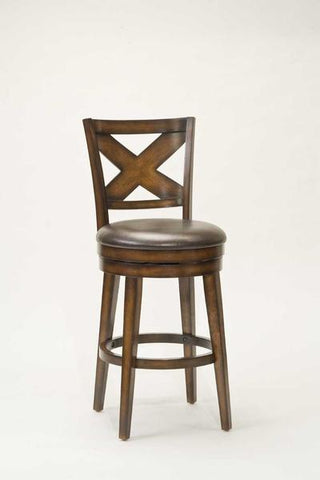 "Shop Hillsdale Sunhill 26"" Swivel Rustic Oak Counter Stool at Mealey's Furniture"