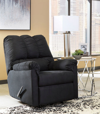 Shop Ashley Furniture Darcy Black Rocker Recliner at Mealey's Furniture