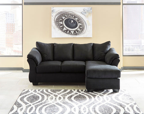 Shop Ashley Furniture Darcy Black Sofa Chaise at Mealey's Furniture