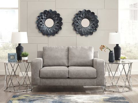 Shop Ashley Furniture Ryler Steel Loveseat at Mealey's Furniture