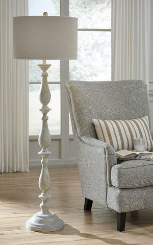 Shop Ashley Bernadate Whitewash Poly Floor Lamp (1/CN) at Mealey's Furniture