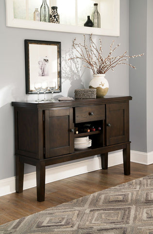 Shop Ashley Furniture Haddigan Dark Brown Dining Room Server at Mealey's Furniture