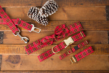 Load image into Gallery viewer, Red Tartan Cat Collar