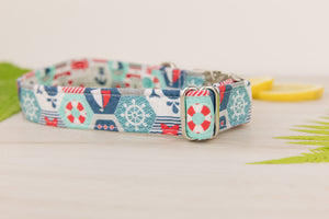Nautical Quilter Dog Collar