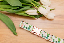 Load image into Gallery viewer, Succulent and Cactus Customizable Dog Collar