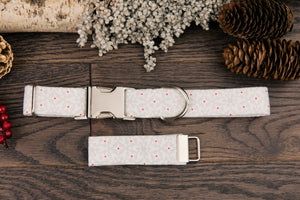 White Snowflake Dog Collar