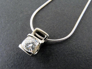 Little Boxes Solitaire Pendant