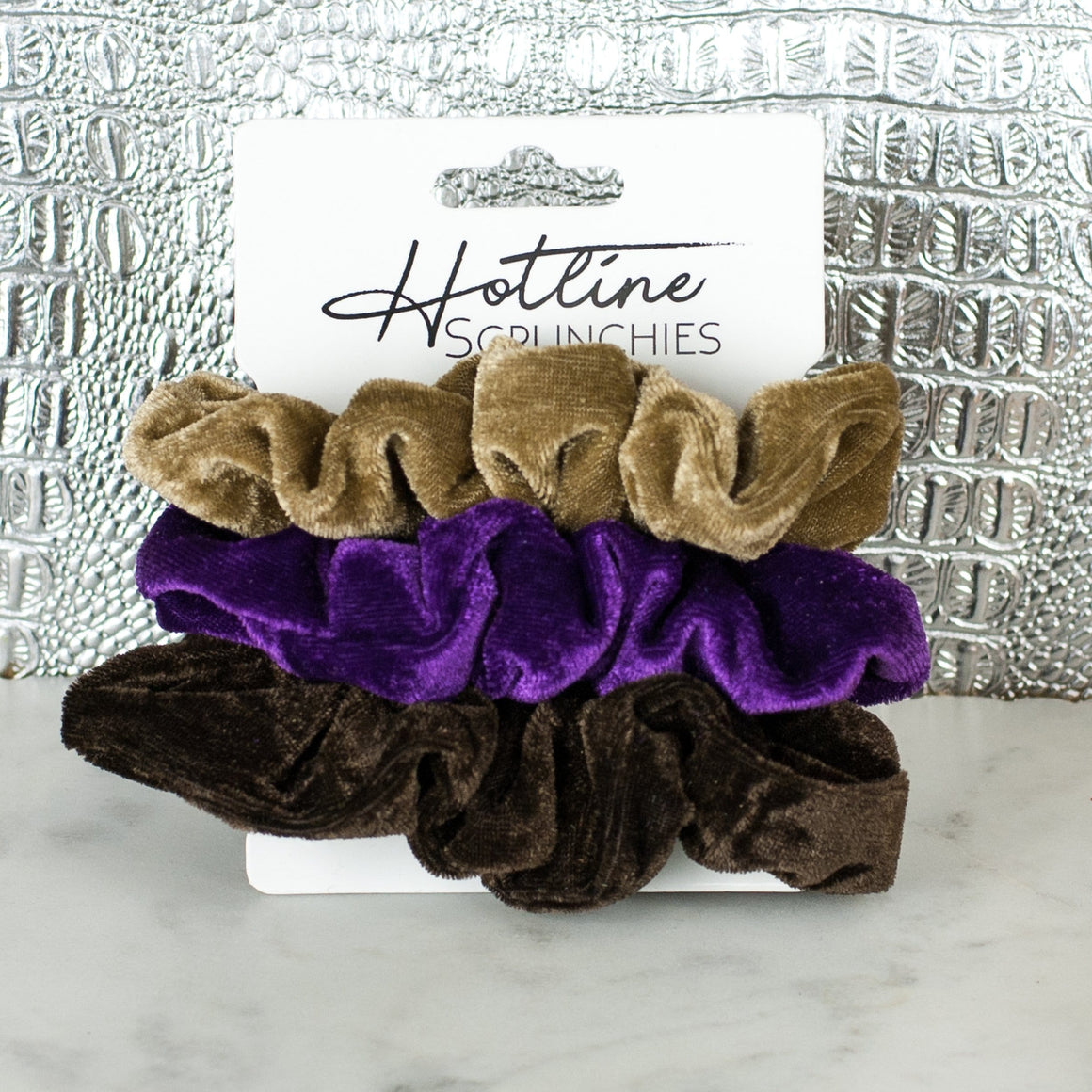 PB & J Velvet Scrunchie Set