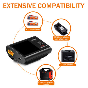 UP610 DC 200W 10A 1S-6S Digital Lipo Battery Balance Charger With XT60 Female Connector