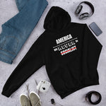 American Will Never Be Socialist Hoodie (Unisex) | Patriotic Usa Hoodie - Kingdom Christian Clothing Store
