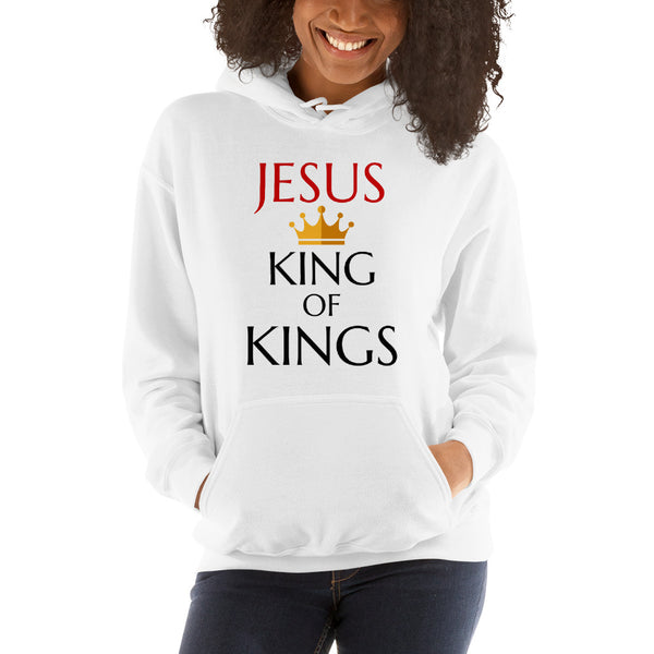 Jesus Is King Of Kings Hoodie | Christian Hoodie For Women - Kingdom Christian Clothing Store