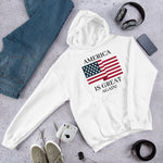 America Is Great (Unisex) | Patriotic - Usa Hoodie | Light Colors - Kingdom Christian Clothing Store