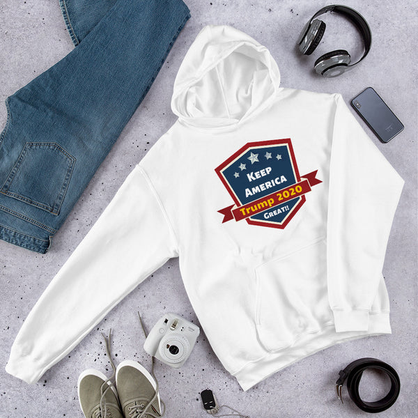 Keep America Great Hoodie (UNISEX) | Trump 2020 T-Shirt | Patriotic Hoodie - Kingdom Christian Clothing Store
