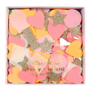 PARTY CONFETTI PINK SHAPES